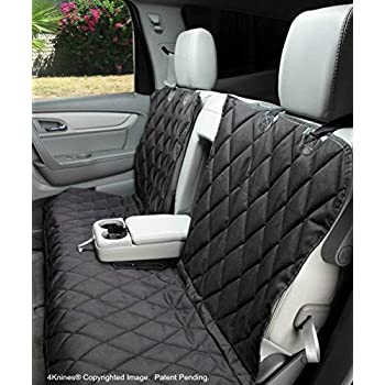 Image of 4Knines Dog Seat Cover Without Hammock 60/40 Fold Down Seat and Middle Seat Belt Capable - USA Company Pet Supplies