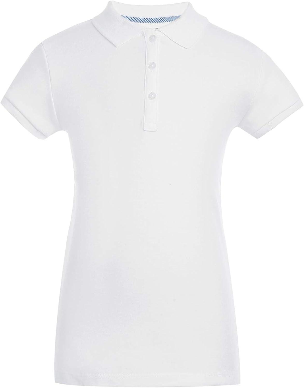 Tommy Hilfiger Short Sleeve Interlock Big Girls Fit Polo Shirt Kids School Uniform Clothes
