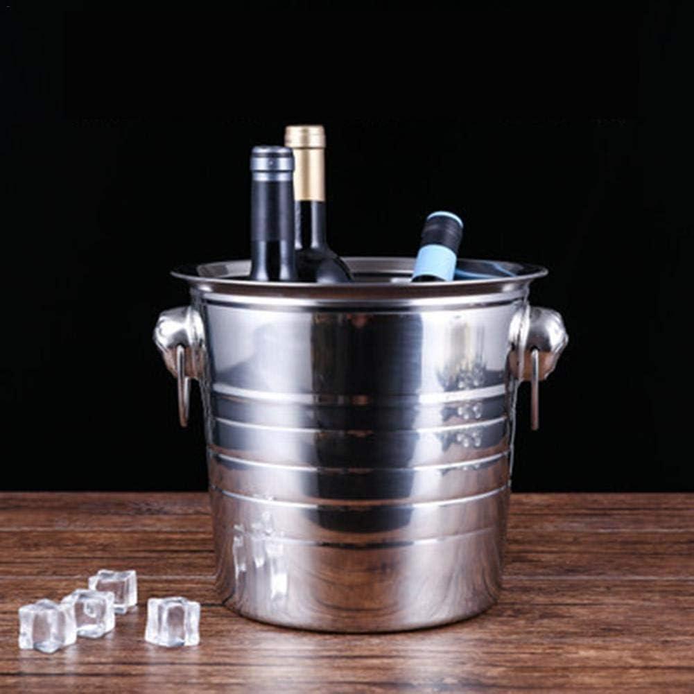3,5,7L Champagne Ice Wine Bucket Wetour Acero Inoxidable Cubo para el Hielo cubitera con Asa de Transporte