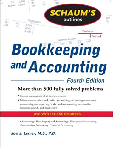 Amazon.com: Schaum's Outline of Bookkeeping and Accounting, Fourth ...