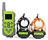 KOOLKANI 650 Yards Remote Dog Training Collar Obedience Trainer:Rechargeable Waterproof Collar w/10 Levels of Adjustable Static Stimulation,Beep Tone and Vibration (Two-dog Trainer)