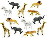 "Boley 12pc Jumbo Safari Animals - 9"" Assorted Jungle Animals, Great Educational Toy for Toddlers"