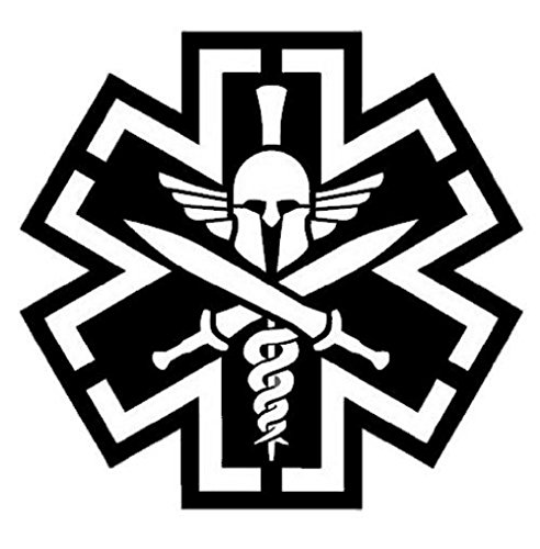 Tactical Medicine (TAC-MED) Spartan Vinyl Decal (SWAT (Black))