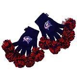 NHL Columbus Blue Jackets Embroidered Spirit Fingerz Pom Pom Gloves