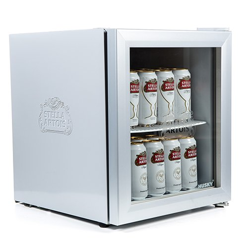 HUS-HM4-HU Husky Stella Artois Drinks Cooler, Silver [Energy Class A+]