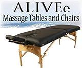 Signature II Portable Massage Table Black LIGHT W/Adjustable...