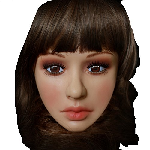 Soft Realistic Mask, Female Mask with Skin Texture Halloween Crossdress TG (Crossdress Halloween Costumes)