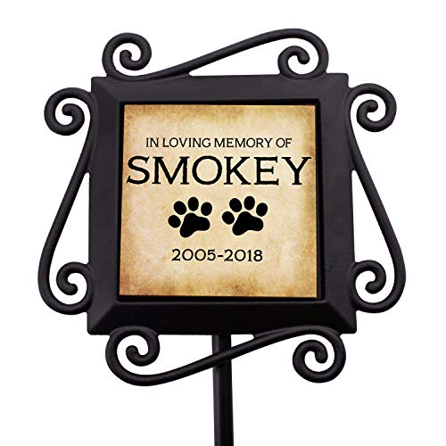Personalized Memorial Gifts Garden Stakes - Grave Marker Memorial Gifts in Loving Memory of Custom Name - D1
