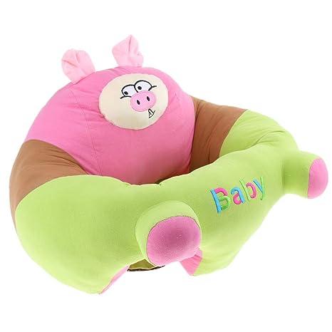 Sofá Bebé Aprendizaje Asiento de Apoyo Infantil Suave Coche ...