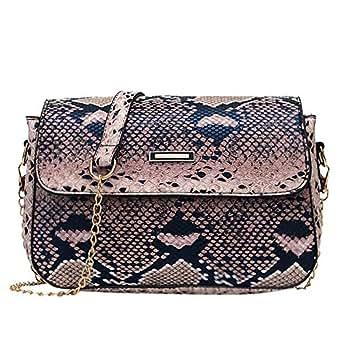 TOOGOO Handbags Versatile Bags for Women Fashion Snakeskin Pattern Shoulder Handbag Casual Shoulder Messenger Bag Coffee