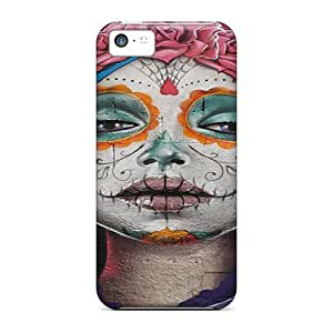 GunsRoses Perfect Tpu Case For Iphone 5c/ Anti-scratch Protector Case (sugar Skull Lady)