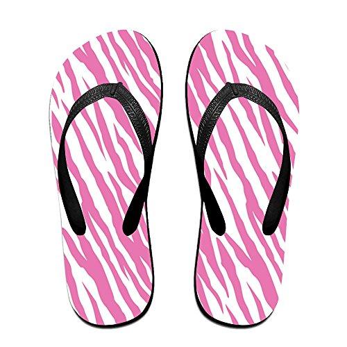 Sandalo Estivo Unisex Rosa Cinturino Zebrato Con Cinturini Infradito Sandali Da Spiaggia Per Uomo Donna Nero
