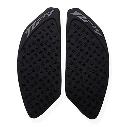 (Black Gas Tank Traction Side Pad Gas Fuel Knee Grip Protector 3M - YAMAHA YZF R1 2009-2014)
