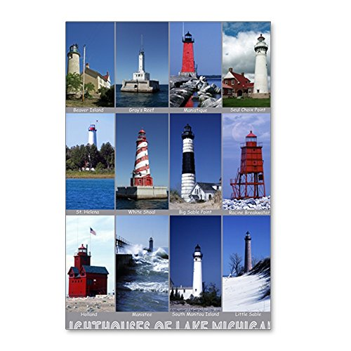 - CafePress - Lake Mich 16X20 - Postcards (Package of 8), 6