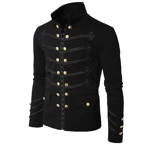 zarupeng Escudo de los hombres chaqueta gótica botón de ...