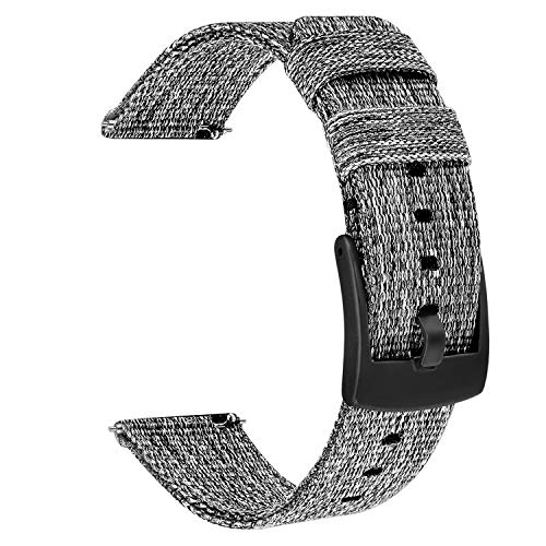 TRUMiRR 18mm Quick Release Woven Nylon Watch Band Stainless Steel Clasp Strap Sports Bracelet Wristband for Huawei Watch 1st/Fit Honor S1, Fossil Gen 4 Q Venture HR, Withings Steel HR 36mm ()