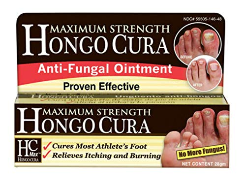 HC Max Maximum Strength Hongo Cura Anti-Fungal Ointment, 28gm (Best Over The Counter Athletes Foot Cure)
