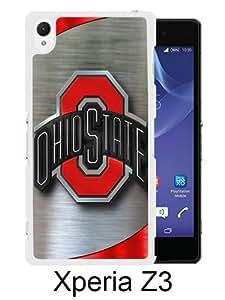 Ohio State Buckeyes 9 White Sony Xperia Z3 Screen Phone Case Handmade and Charming Design