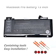 "New A1322 Battery Replacement for Apple MacBook Pro 13"" A1322 A1278 (Mid 2009 2010 Late 2011 Mid 2012 Version) Series Laptop [10.95V 63.5Wh ]"