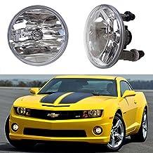 iJDMTOY One Pair Driver Passenger Sides Fog Light Lamps w/5202 Halogen Bulbs For Chevrolet GMC Ford (OEM# 15839896)