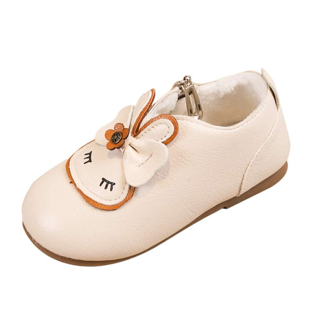 Transer Toddler Filles Dessin Animé Lapin Hiver Chaud Plus Velvet Épaississent Neige Chaussons Chaussures
