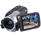 Camcorder Video Camera Portable HD Digital Video Recorder Strong Strobe Flash Photo Camera 3.0 Inches Touch Screen 16X Digital Zoom Dual Memory Card Slots MP3 Playback DV