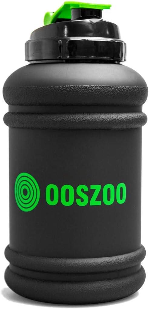 Botella de Agua OOSZOO: Bebida, líquido, batido, Jarra de Jugo para Deportes, Gimnasio, Entrenamiento, Fitness, Ejercicio, Gran Capacidad de 2.2 litros
