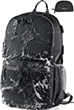 Cheap Vitino Backpack with USB Charging Port Water Resistant Lightweight Packable Backpacks for Travel Hiking – Basic Bag for Women Men (Black)