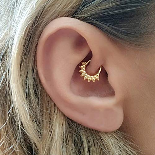 Piercing Cartilage Daith Nose Septum Ring Twist Hoop Earrings Ear Piercing