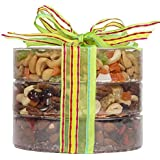 The Exotic Trail Mix Tower, Fruit and Nuts Gift, Perfect as a Thank You Gift or for Any Occasion, Small-Batch Kettle Roasted For Superior Freshness, Nuts Never Tasted This Good