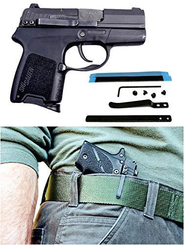 9mm Semi Automatic Gun Pistol - ClipDraw SA-B Universal Gun Holster, Black