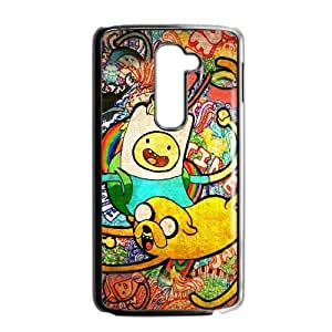 Printed Cover Protector LG G2 Cell Phone Case BlackAdventure Time PosterMweyv Unique Design Cases