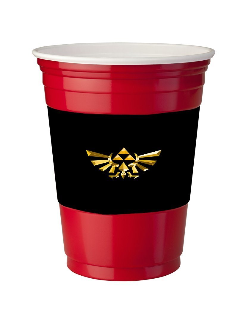 4 Pack of Vinyl Decal Stickers for Disposable Cups / Legend of Zelda Triforce Symbol Print