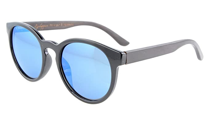 Eyekepper Qualität Frühlings-Scharnier Holz Tempel polarisierten Sonnenbrillen Schwarz/Grau Lens t3Qtkp