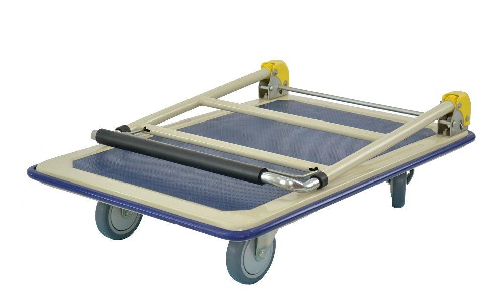capacit/é de charge de 200/kg rabattable T-EQUIP YE1-200T Chariot plateforme avec poign/ée t/élescopique gris//bleu