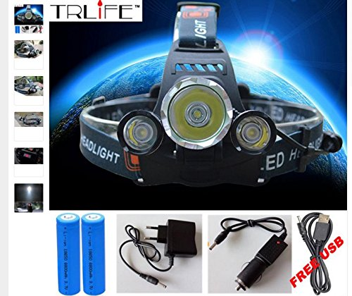 2000Lm CREE XML T6 Headlight Headlamp 3-mode torch - 3
