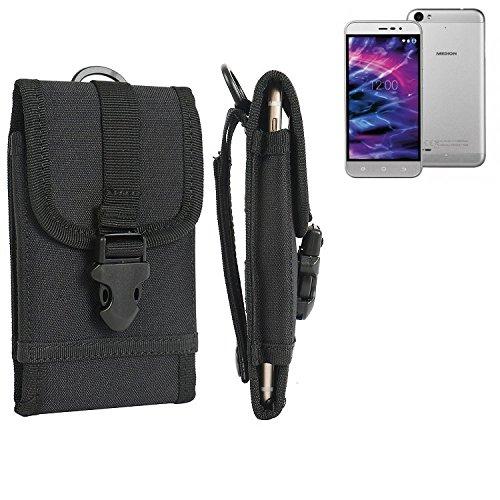 bolsa del cinturón / funda para Medion Life P5006, negro   caja del teléfono cubierta protectora bolso - K-S-Trade (TM)