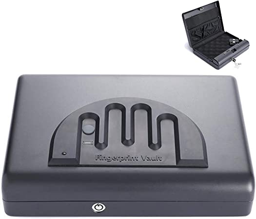 WHCCL Caja de Pistola de Huellas Dactilares, Caja de Seguridad portátil para Pistola, Caja de Seguridad para Joyas en Efectivo o Caja de Seguridad para el hogar, 28cmx21cmx6cm: Amazon.es: Hogar