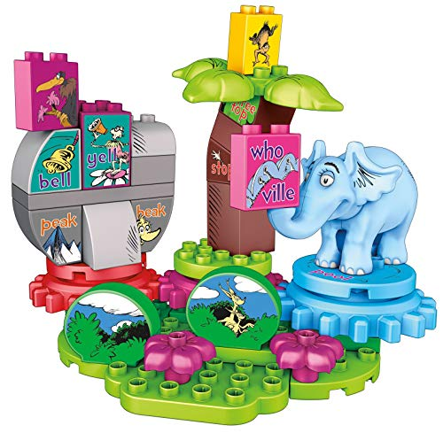 Mega Bloks Dr. Seuss Horton Finds a Who Building Set (40 Piece), Multicolor