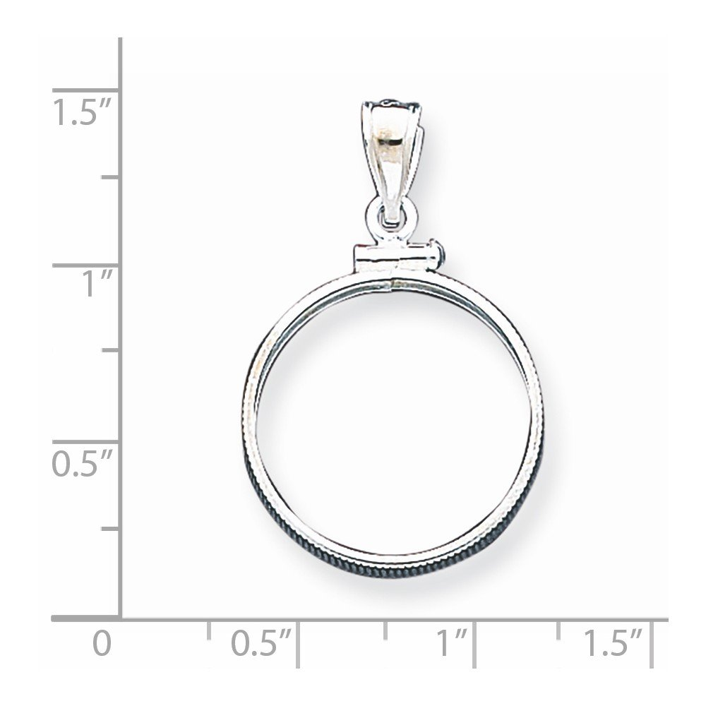 .925 Sterling Silver Nickel Coin Holder Bezel Pendant Charm Pendant Does Not Include Coin