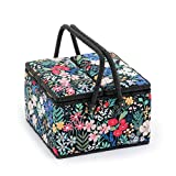 Hobby Gift 'Summertime' Twin Lid Large Square Sewing Box 25 x 25 x 17cm (d/w/h)