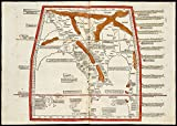 Historic Map | 1482 Undecima Asie tabula continet India ext. Gange & Sinas | Antique Vintage Reproduction