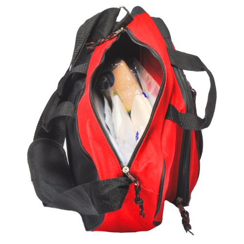 Emergency First Aid Kit Packed in Red Sling Bag