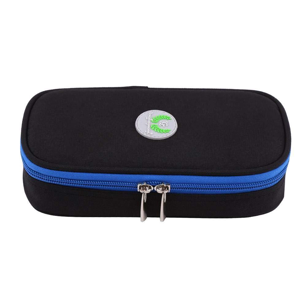 Estuche de insulina, bolsa de refrigerador diabé tica portá til de 3 colores, refrigerador de medicamentos para diabé ticos a prueba de agua para viajar, bolsa de hielo no incluida(Negro) Hilitand