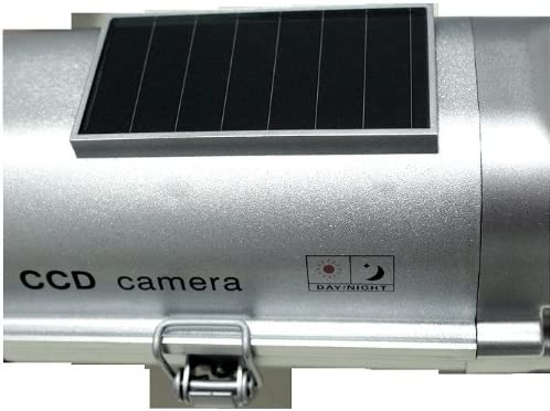 Cop Security 15-CDM15 Solar Powered Fake Dummy Security Camera Silver Sunpentown