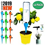TAOPE Plant Watering Spikes Devices, Automatic Plant Waterer Self Irrigation Devices for Wine Bottles Watering Stakes (12 Pack)