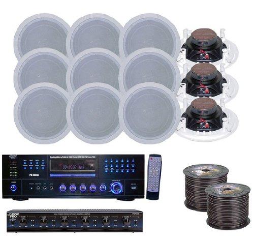 KTHSP128DV - 6 Room Home In-Ceiling Speakers W/DVD/MP3 Amp System