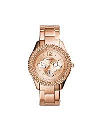 Fossil Women's ES3590 Stella Multifunction Stainless Steel Watch-Rose Gold-Tone