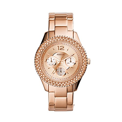 Fossil Women's ES3590 Stella Rose Gold-Tone Stainless Steel Bracelet Watch