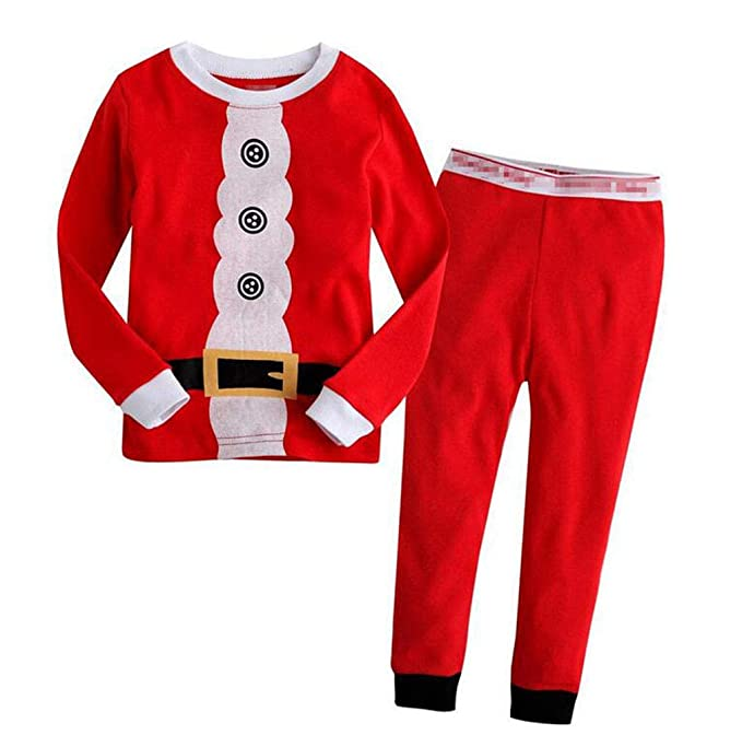 Girls Reindeer Pajamas Sets Children Clothes Set Christmas Cotton Toddler  Pjs Dot Sleepwear Pink 1- f9213d74b